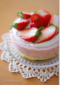 Easy Strawberry Mousse Cake