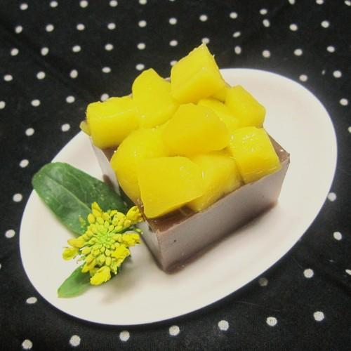Mango Mizu-yokan (Soft Adzuki Bean Jelly)