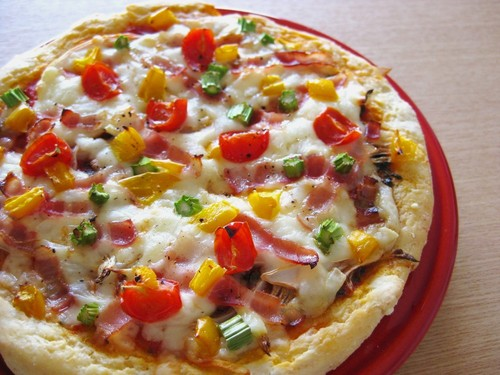 Easy Pizza with Okara Soy Pulp