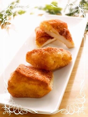 Voluminous! Fried Hanpen Stuffed with Egg