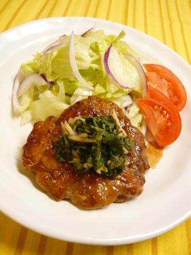 Teriyaku Pork Steaks with Shiso Vinegar Sauce