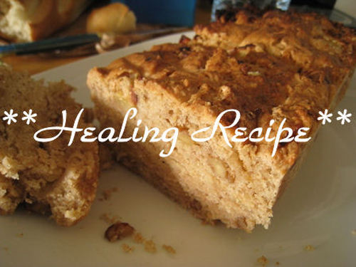 ● Macrobiotic Apple & Walnut Pound Cake ●