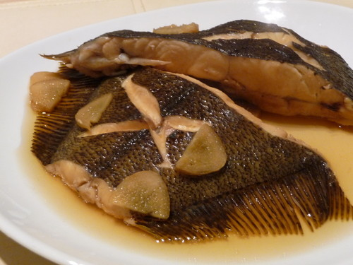 Lightly Flavored Simmered Flounder