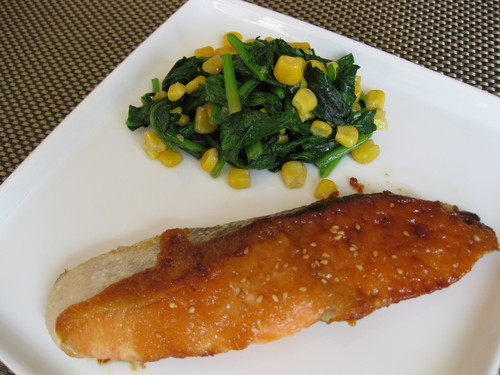 Western-style Saikyo Miso Fried Salmon