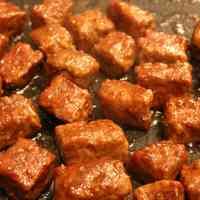 Diced Steak Made with Ground Beef
