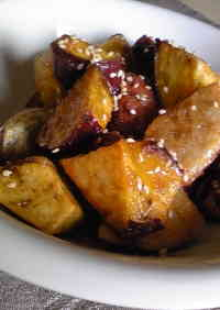 Non-Fried but Crispy Candied Sweet Potatoes