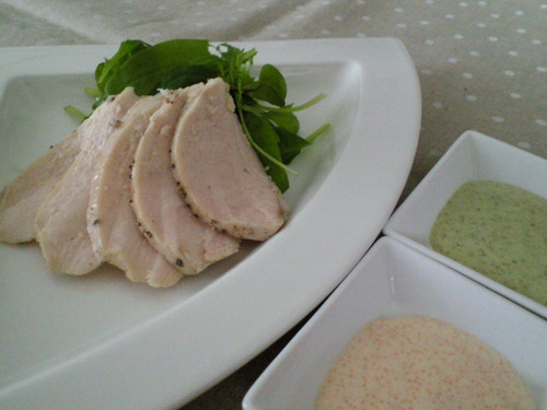 Absolutely Tender Poached Chicken With 2 Kinds of Sauce