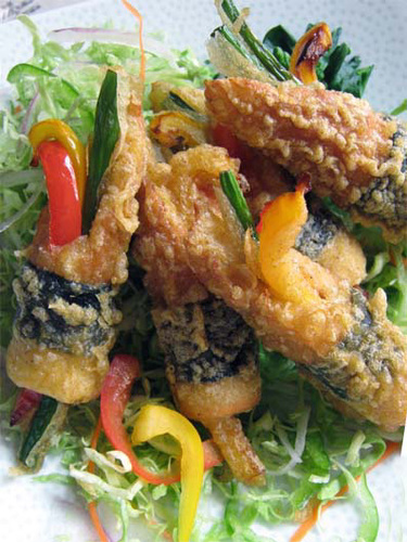 Even when You're Broke: Satisfying Nori-Wrapped Deep Fried Vegetable Stuffed Chikuwa Fish Sticks