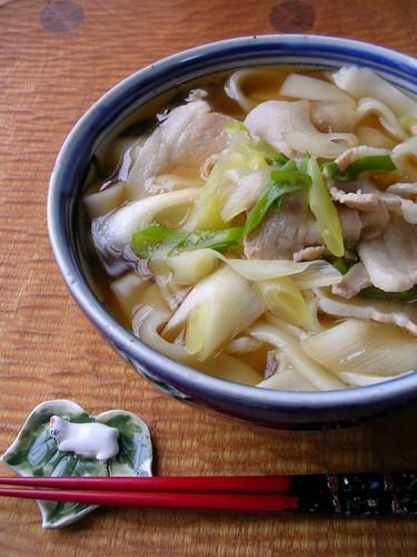 Kishimen Noodles with Pork Lots of Garlic