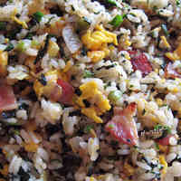 Spinach and Garlic Fried Rice