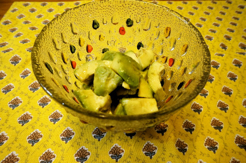 5-Minute Avocado Tossed with Honey and Soy Sauce