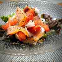 Tomato and Salmon Red Marinated Salad