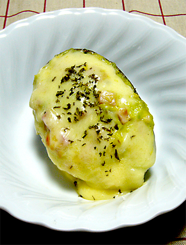 Easy! Mix and Bake Gratinéed Avocado