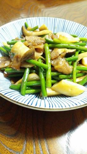 My Family's Pork and Garlic Shoot Stir-Fry