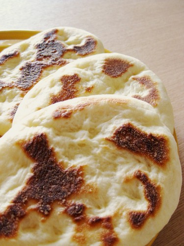 Light and Puffy Homemade Naan Bread in a Pan