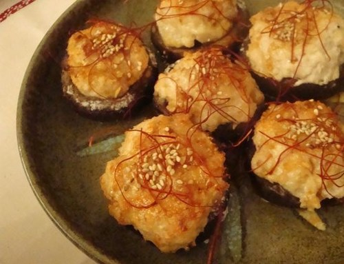 Ground Chicken Stuffed Shiitake Mushrooms