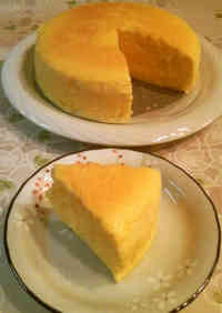 Soufflé Cheesecake Made with Sliced Cheese
