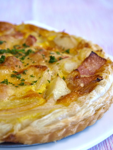 Seasonal Spring Dish - Easy New Potato and Spring Onion Quiche