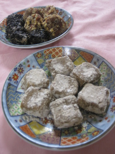 Okara Mochi with Roasted Barley or Kinako Flour