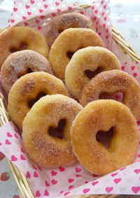 Easy in a Bread Maker Heart-shaped Doughnuts