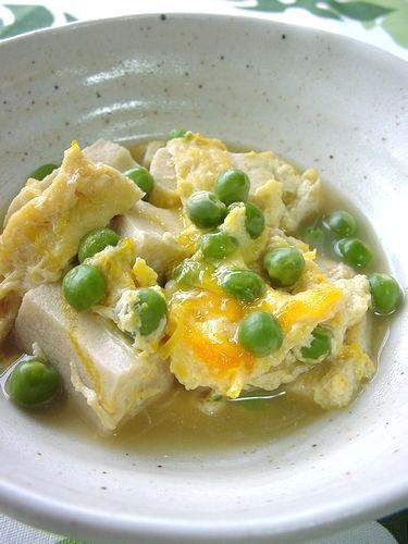 Egg Drop with Koya Tofu & Peas