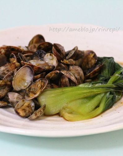 Sake Steamed Manila Clams and Bok Choy - Nori Flavored -