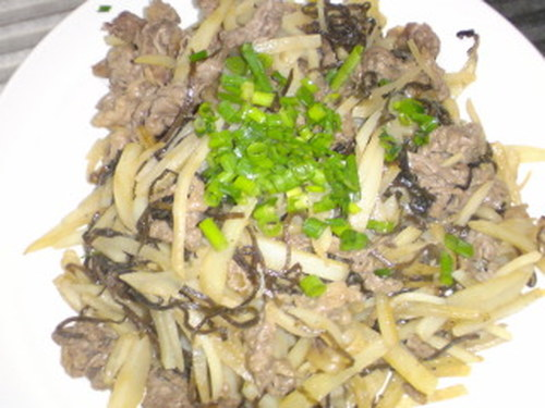 Beef and Potato Stir-Fry with Shio-Konbu