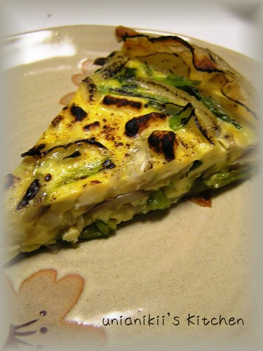 Pan-Fried Potato Quiche with Lots of Vegetables