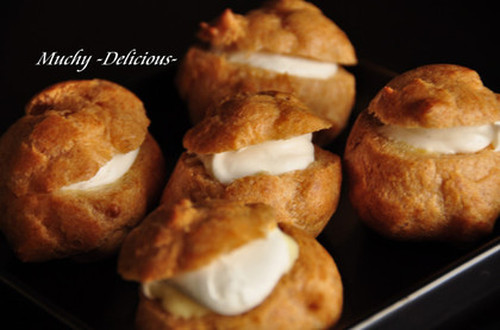 Foolproof Easy Cream Puffs Prepared in the Microwave