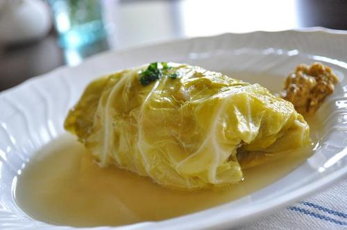 Soft Cabbage Rolls Simmered in Soup
