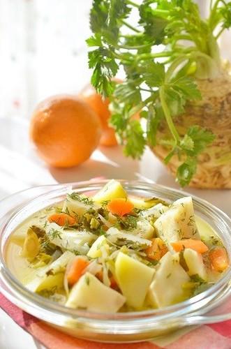 Orange Simmered Celeriac - Turkish Homemade Cooking