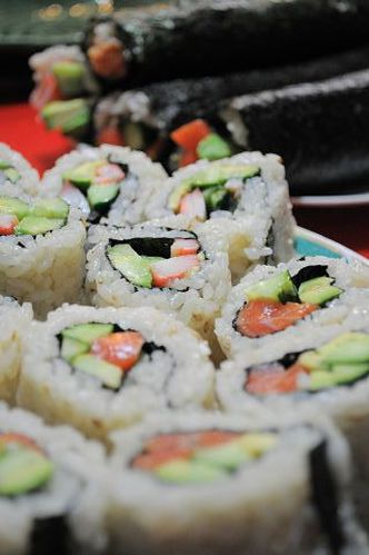 California Rolls and Seattle Rolls
