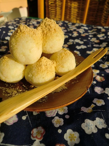 Fiber-Packed Okara Mochi for Dieters