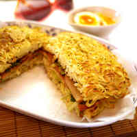 Easy Hassle-Free Ramen Burgers with Yakisoba Noodles