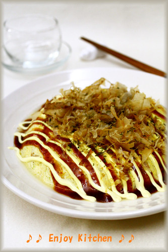 Easy and Microwaved Flour-free Okonomiyaki with Tofu