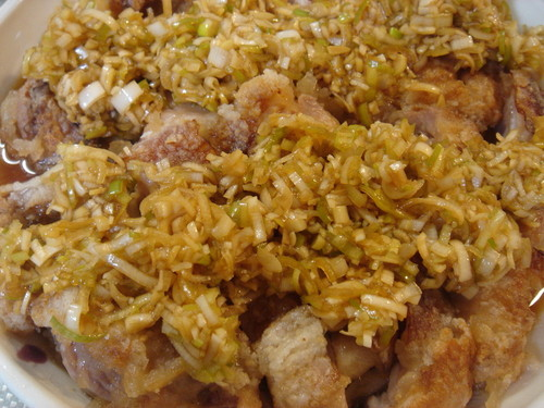 Youlinji Chicken with Lots of Leek Sauce
