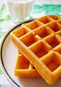 Yogurt Carrot Waffles