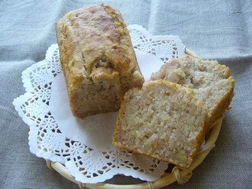 Banana Pound Cake made with Rice Flour