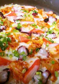 Seafood Kimchi Rice Pizza