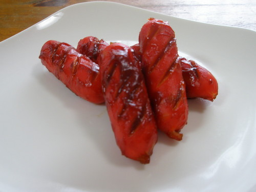 For Your Bento - Red Wiener Sausages Sautèed in Ketchup