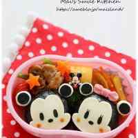 Mickey and Minnie Onigiri Character Bento