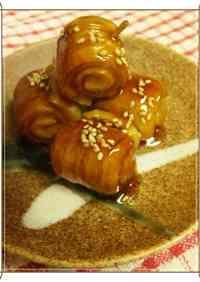 Chikuwa Rolls in a Teriyaki Sauce