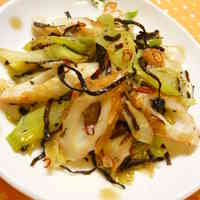 Butter Stir-Fried Chikuwa with Shio-Konbu