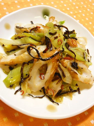 Butter Stir-Fried Chikuwa with Shio-Konbu