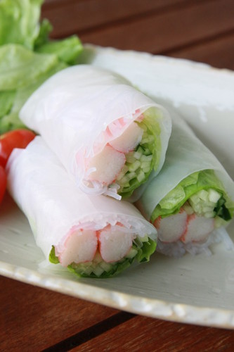 Imitation Crab Salad Summer Rolls