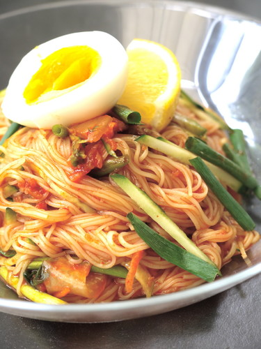 Sweet, Salty, and Sour Bibimbap Soumen Noodles