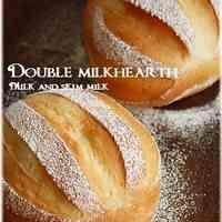 Double Milk Hearth Bread