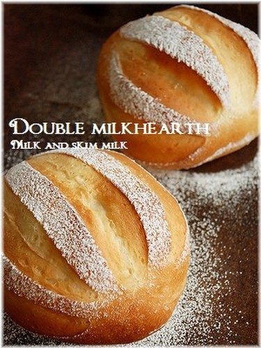 Double Milk Hearth Bread