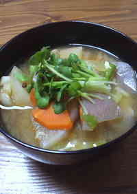Delicious and Rich Pork Miso Soup