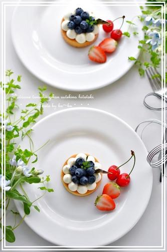 Very Berry No-Bake Cheesecake Tarts